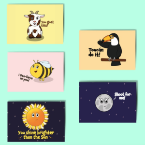 Cheerleader Postcards - Pack of 5 Recycled Motivational Postcards